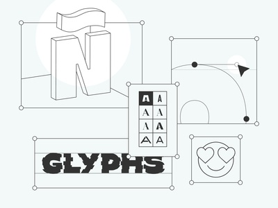 Glyphs uiux illustration typeface design typeface glyphsapp variable font typefoundry typedesign