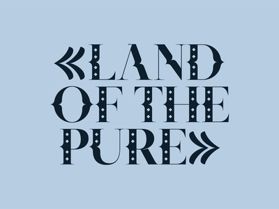 Land oh the Pure serif fonts font family font serif font blue kinetic type letters type kobufoundry typeface typogaphy sakasudecorative typedesign