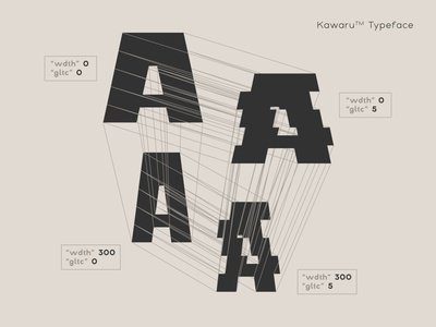 Variable Font typogaphy typedesign font kinetic type kawarutypeface type variable font graphicdesign typeface glyphsapp