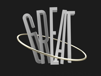 Great variable font font kinetic type great 3d artist illustration graphicdesign adobedimension 3d art 3d typeface typogaphy typedesign