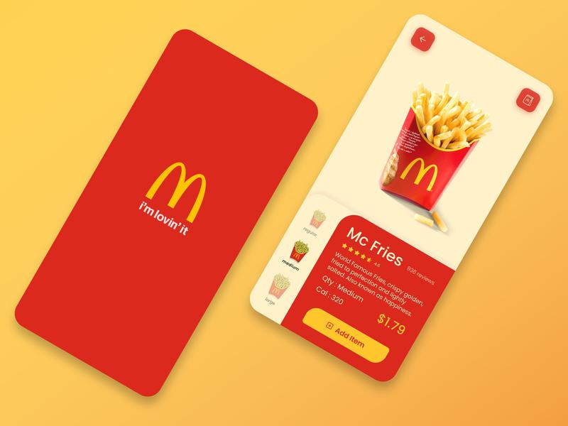 McDonald's App Concept mcdonalds store design appuidesign uidesigner uitrends dailyui beginner ui uiux uiinspiration design uidesign