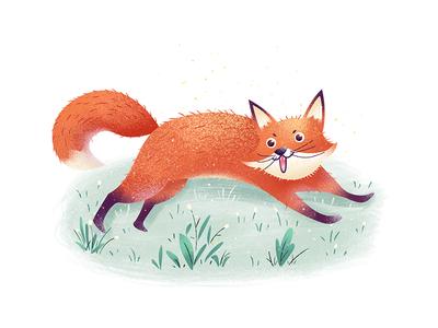 fox and grassland