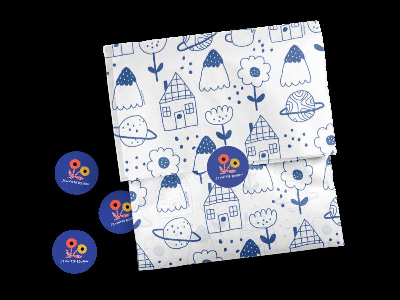 Pattern design on noissue Tissue by @jeninuferu print design logo branding packaging design graphic design illustration
