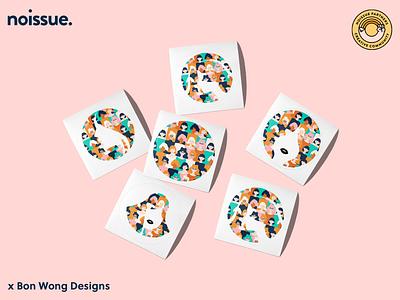 @bonwongdesigns x noissue Homepage - 03/09 pattern design print design logo graphic design branding packaging illustration design