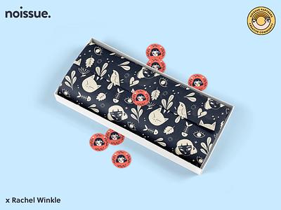@rachel_winkle x noissue Homepage - 03/23 pattern design print design logo graphic design branding packaging illustration design