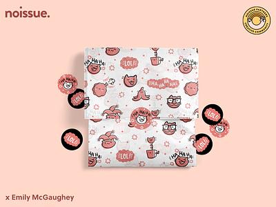 @shop_emilym x noissue Homepage - 04/01 pattern design print design logo graphic design branding packaging illustration design