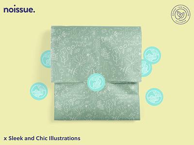 @sleekandchicillustrations x noissue Homepage - 04/13 pattern design print design logo graphic design branding packaging illustration design