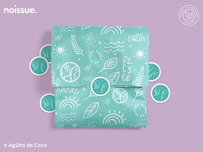 @aguitadecoco.design x noissue Homepage - 04/22 pattern design print design logo graphic design branding packaging illustration design