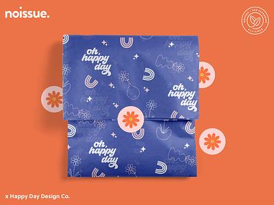 @happydaydesign.co x noissue Homepage - 04/27 pattern design print design logo graphic design branding packaging illustration design