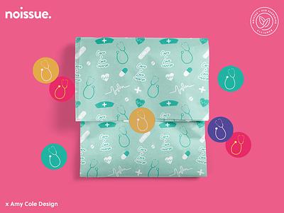 @amy_cole_studio x noissue Homepage - 05/06 pattern design print design logo graphic design branding packaging illustration design
