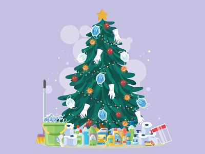 Covid ''Christmas Tree'' covid tree covid-19 colorful design illustration noel happy new year 2020 happy new year 2021 happy holidays happy new year tree christmas tree christmas new year