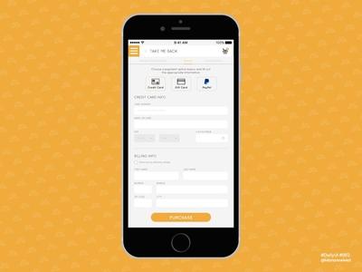 #DailyUI 002 - Credit Card Checkout checkout uidesign dailyui ui design