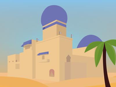 Castle In The Sand castle poly low poly deserted in the desert desert