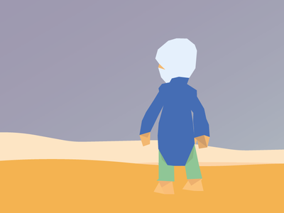 Character schorpio poly low poly deserted in the desert desert
