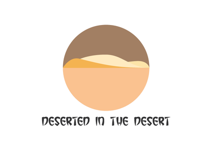 Desert logo try 1 logo poly low poly deserted in the desert desert