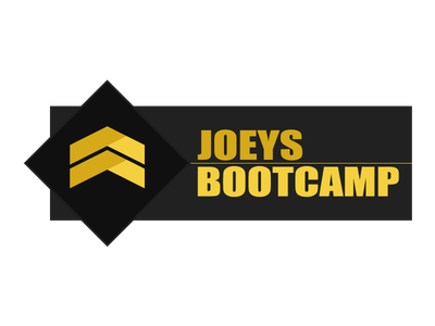 Actual Joeys Bootcamp Logo military running health fitness excercise emblem army rough army-style black sports bootcamp