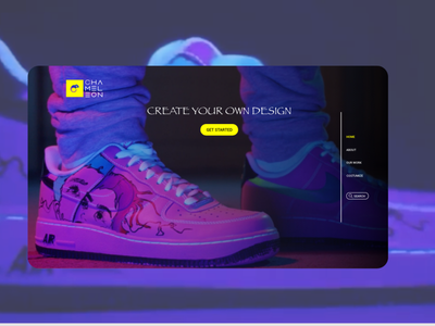 𝙲𝙷𝙰𝙼𝙴𝙻𝙴𝙾𝙽™️ custom made custom nike air nike graphic design art website app web ux ui logo illustration design