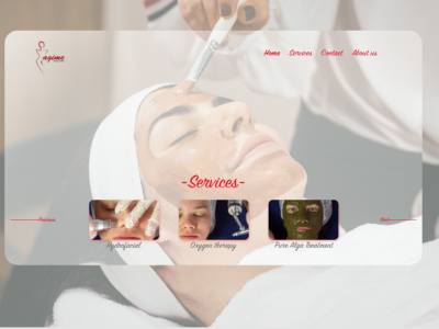 "Beauty Centre ""Agime"" ui graphic design art skin care face centre beauty designer illustrator photoshop figma sketch adobe xd design web app"