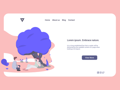 Nature - Log in - Web sign in log in air fresh trees nature apartment studio architect house flat building illustrator photoshop figma sketch adobe xd web design app