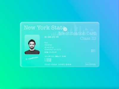 ID Card (Glassmorphism 3D Concept) concept art anima photoshop illustrator figma sketch adobe graphic design illustration art graphic design concept design id card idea glass glassmorphic glassmorphism concept