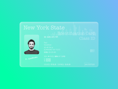 ID Card (Glassmorphism 3D Concept) concept art anima photoshop illustrator figma sketch adobe graphic design illustration art graphic design concept design id card idea glass glassmorphic glassmorphism concept