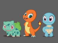 Pokémon Starters: Red and Blue