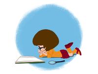 Velma likes to read
