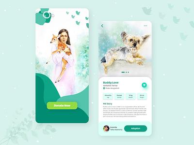 Animal Rescue and Pet adoption App product design animals animation pet adoption android app website illustraion mobile app mobile ui ux branding app design ui sketch figma xd dog adoption