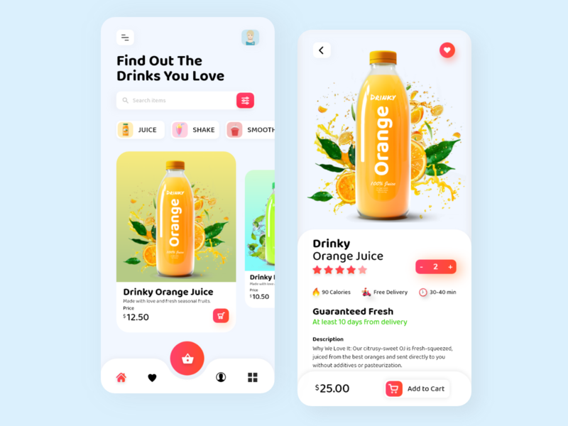 Food Delivery App app product design 2020 trends juice food and drink ecommerce shopping restaurant app design mobile app food delivery delivery app