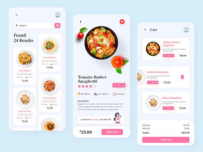 Food Delivery App xd ui design restaurant food delivery app delivery app product design ecommerce 2020 trends mobile ui app pasta food delivery food app food