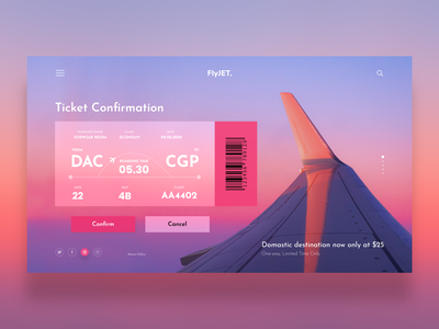 (Freebie) Air Ticket Booking Concept airline landing page website 2020 trends online booking booking ecommerce landingpage air ticket plane aircraft