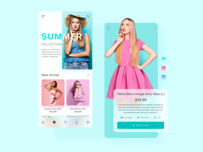 Fashion E-commerce : Women's Clothing App product design 2020 trends ecommerce app online shop app design fashion brand fashion illustration dress app ui dress clothing clothes fashion app fashion ecommerce