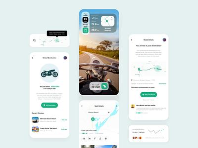 AR Navigation App map navigation vr bike motorcycle motorbike clean ui best design 2020 mobile app tour gps ar app travelling travel app travel augmented reality