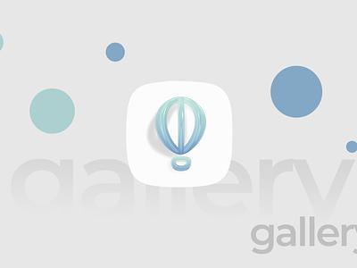 Gallery App Icon minimal ui ux app icon design