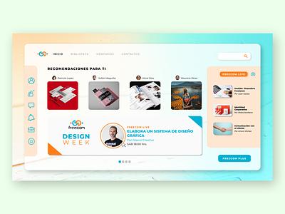 Freecom - Home ui figma design webdesign