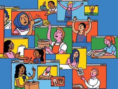 Distance Learning campus school learning digital dps feature magazine editorial illustration