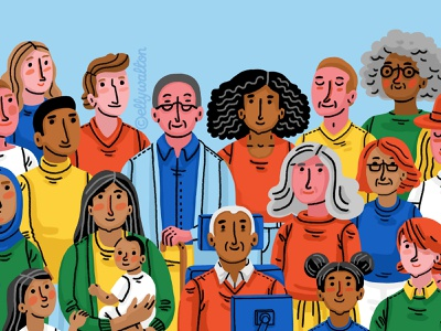 Diverse people website illustration people illustration people diverse diversity website illustration