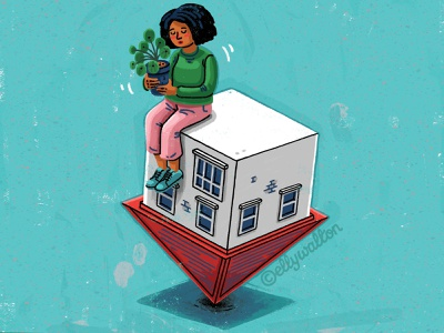 Insecure Home insecurity woman house home magazine illustration editorial illustration magazine editorial illustration