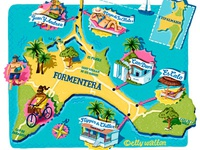 Illustrated Map of Formentera