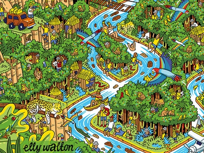 Nestle: Find Koko Competition fun detailed puzzle competition wheres wally quirky illustration