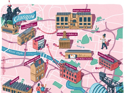 Glasgow art trail map