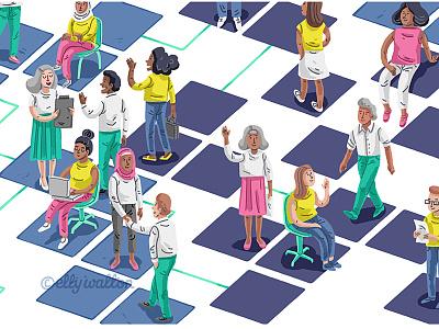 Website illustration people diverse diversity art illustration art illustrator art characters web illustration website illustration illustrator illustration