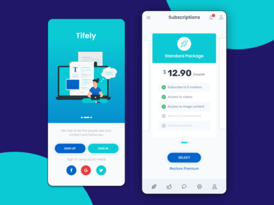 Subscription Plan pricing price product design ui design web design uidesign mobile app mobile ui design subscription box subscription plan customer colourful business