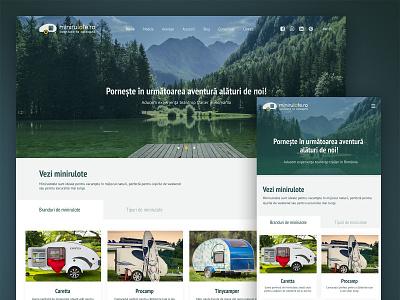 Minirulote Redesign mini caravans sale minicaravans uiux wordpress web design ux ui frontend development design