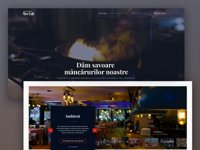 Trattoria Roz Cafe Website frontend development frontend uiux wordpress web design ux ui design