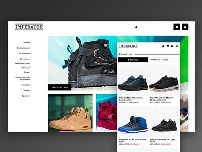 Shoes Online Store Design frontend development web design ux uiux ui design