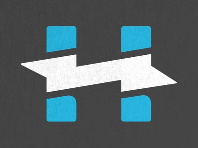 Hi-Lite Electric - Secondary Logo logo shadow strong sharp icon h charcoal blue teal bolt lightning