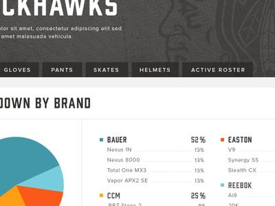 NHL Equipment Database