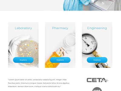 Lab Results are In minimal engineering pharmacy laboratory clean subtle light white space white bright ux design website design
