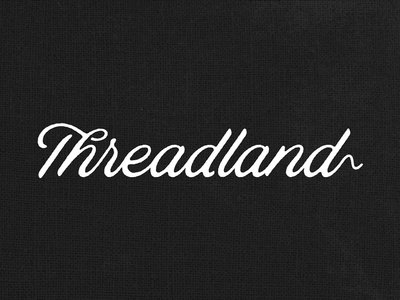 The Land of Threads rough shadows simple flow clothes string script wordmark clothing apparel fabric thread logo
